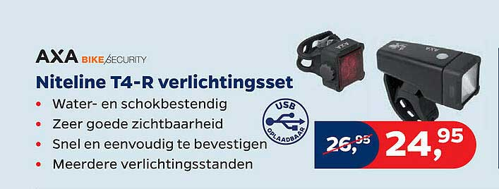 Bike Totaal Axa Bike Security Niteline T4-R Verlichtingsset