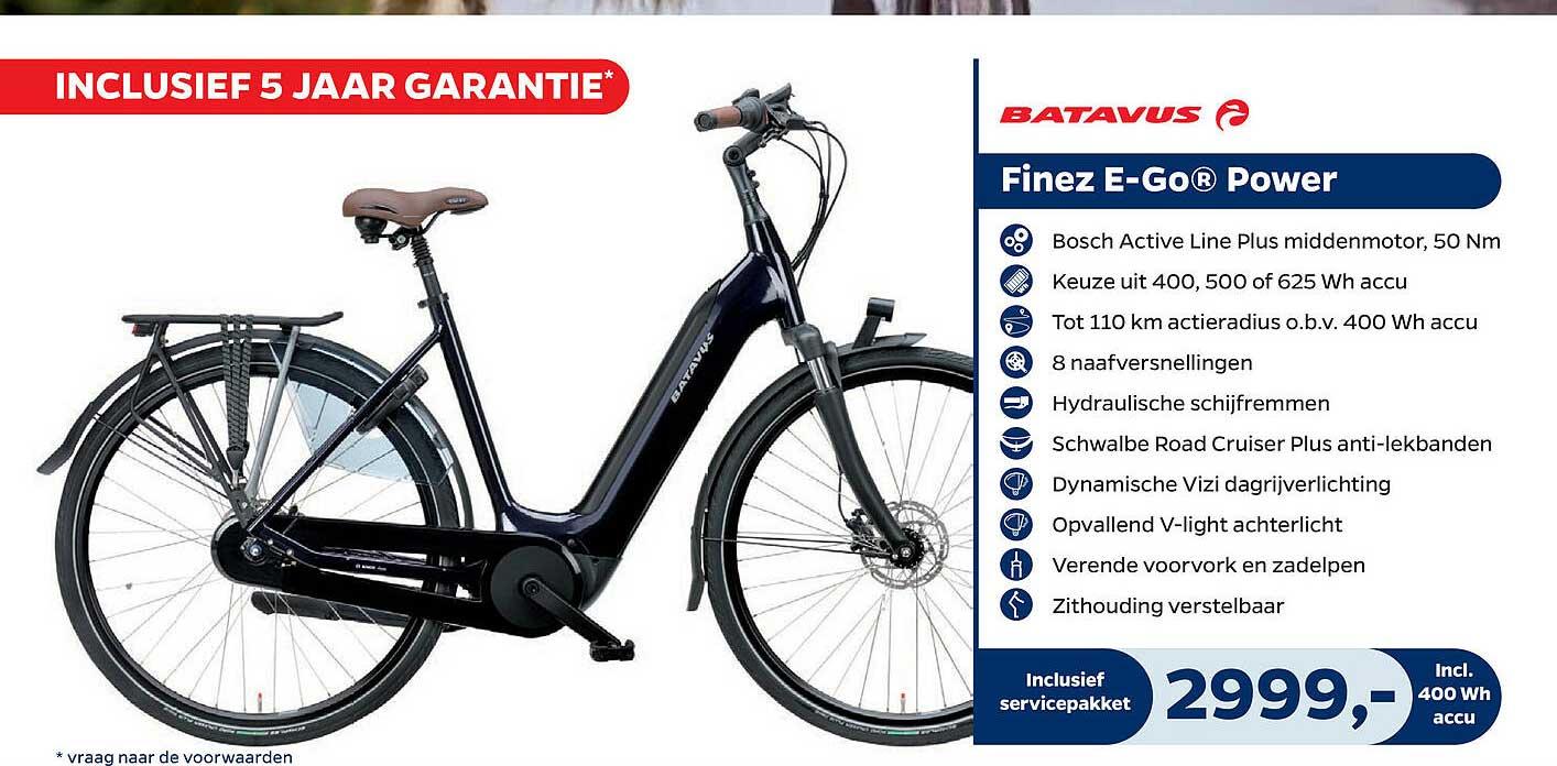 Bike Totaal Batavus Finez E-Go® Power Fiets