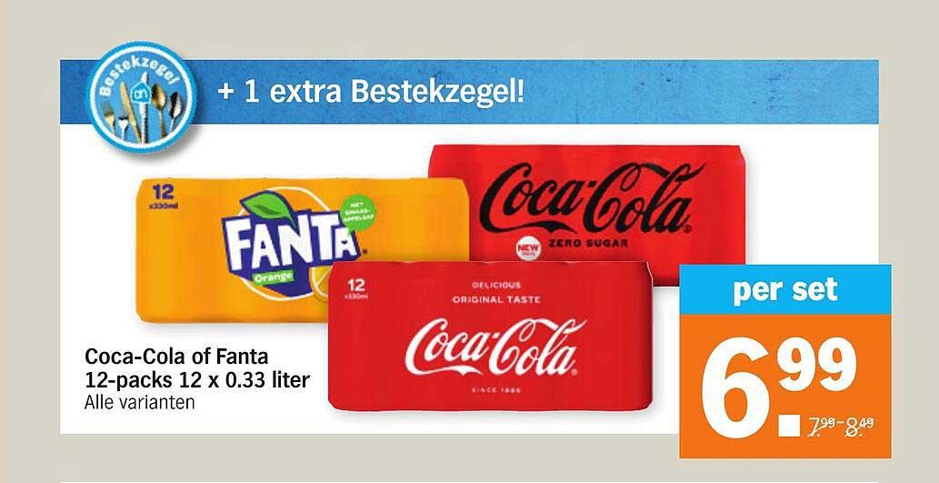 Albert Heijn Coca-Cola Of Fanta 12-Packs 12 X 0.33 Liter