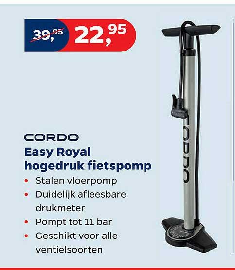 Bike Totaal Cordo Easy Royal Hogedruk Fietspomp