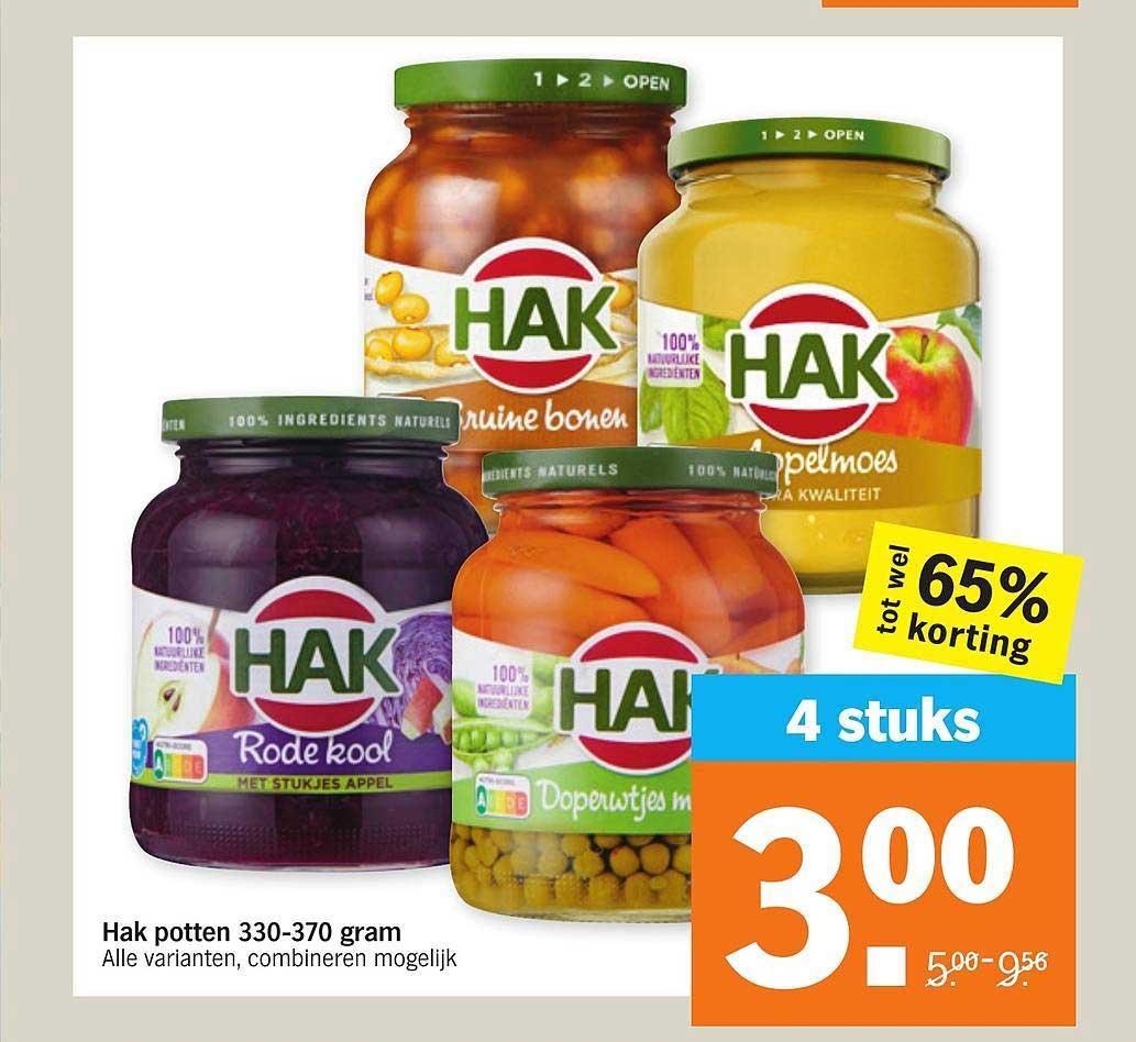 Albert Heijn Hak Potten 330-370 Gram Tot Wel 65% Korting