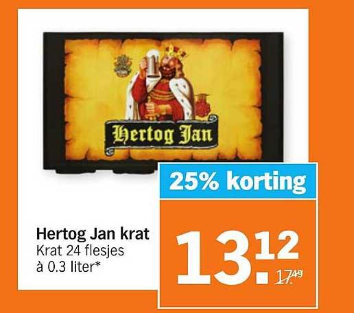 Albert Heijn Hertog Jan Krat 25% Korting