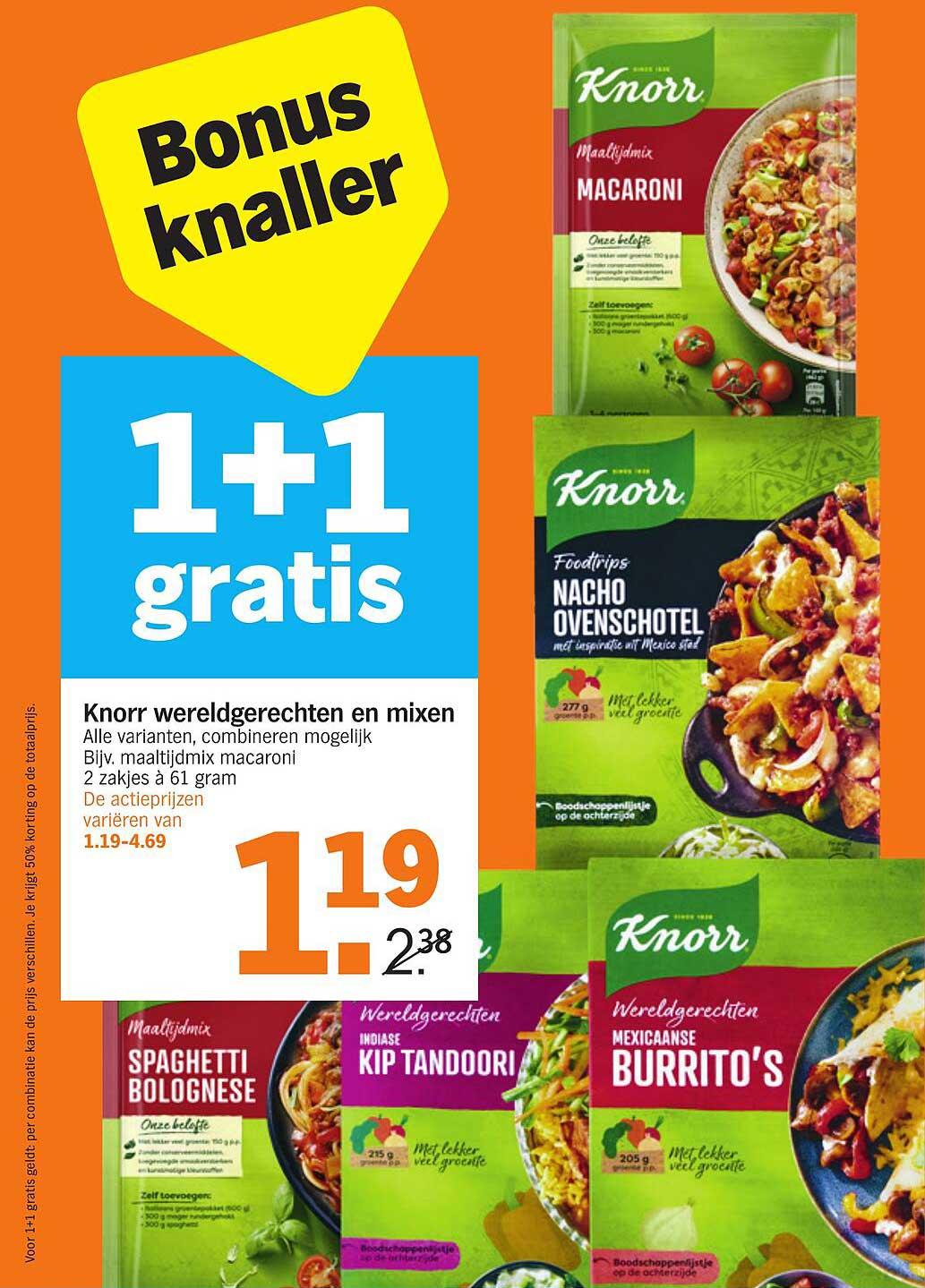 Albert Heijn Knorr Wereldgerechten En Mixen 1+1 Gratis
