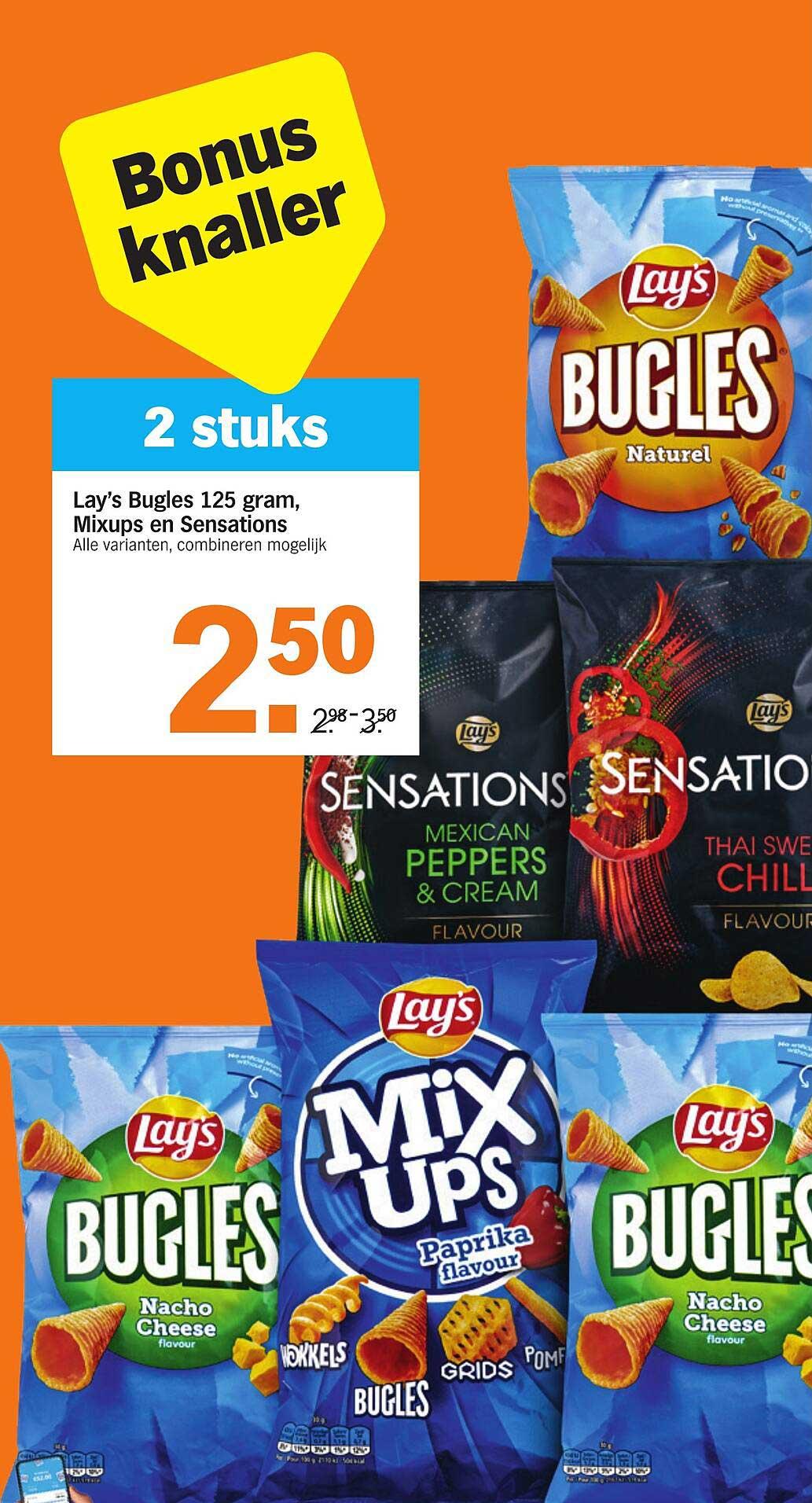 Albert Heijn Lay's Bugles 125 Gram, Mixups En Sensations