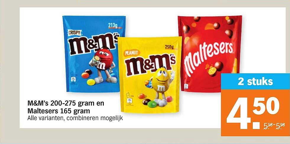 Albert Heijn M&M's 200-275 Gram En Maltesers 165 Gram
