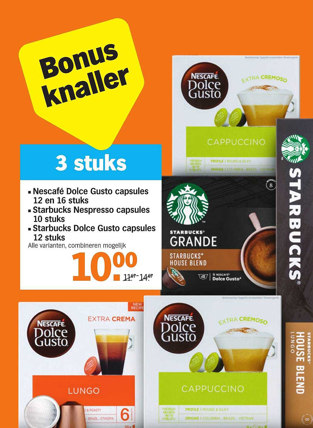 Albert Heijn Nescafé Dolce Gusto Capsules 12 En 16 Stuks, Starbucks Nespresso Capsules 10 Stuks Of Starbucks Dolce Gusto Capsules 12 Stuks