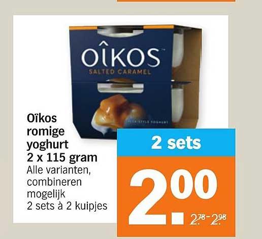 Albert Heijn Oîkos Romige Yoghurt 2 X 115 Gram