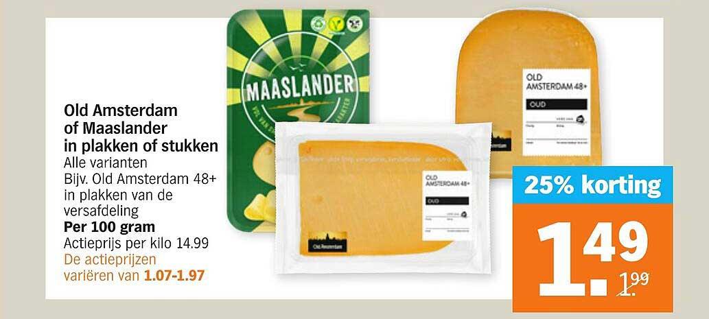 Albert Heijn Old Amsterdam Of Maaslander In Plakken Of Stukken 25% Korting