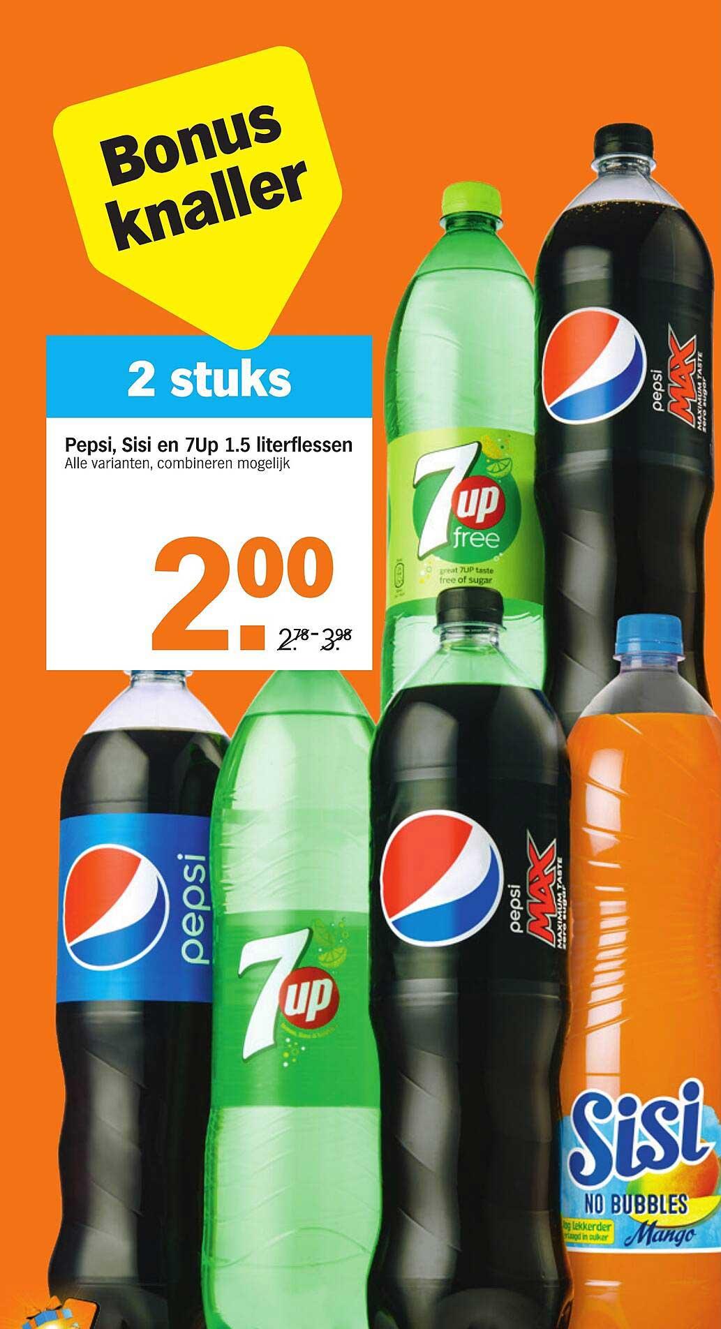 Albert Heijn Pepsi, Sisi En 7Up 1.5 Literflessen
