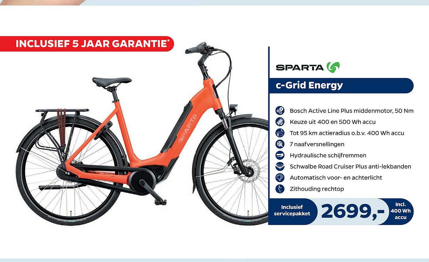 Bike Totaal Sparta C-Grid Energy Fiets