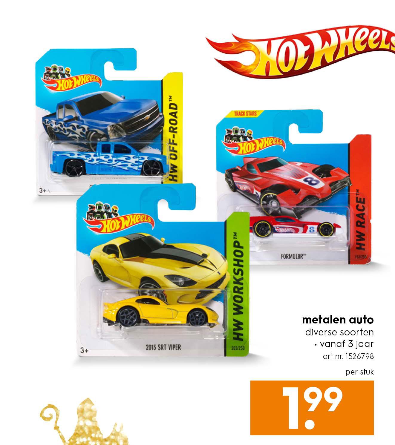 Hot Wheels Metalen Auto Aanbieding bij Blokker