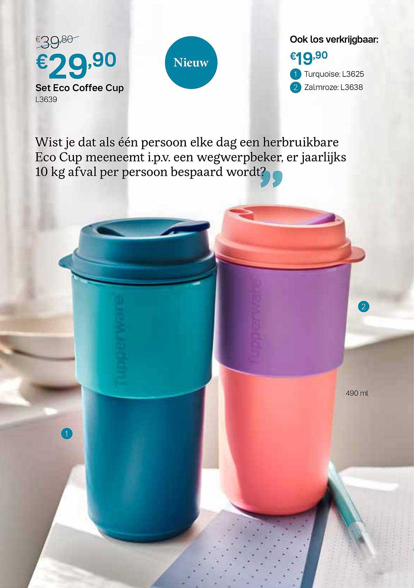 Tupperware Set Eco Coffee Cup