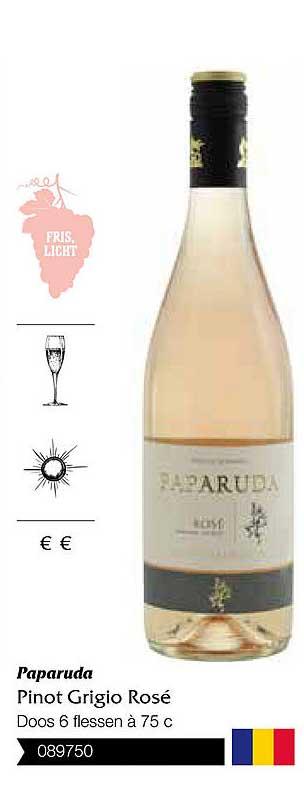 Bidfood Paparuda Pinot Grigio Rose