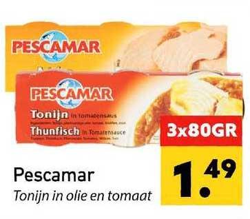 Tanger Markt Pescamar Tonijn In Olie En Tomaat
