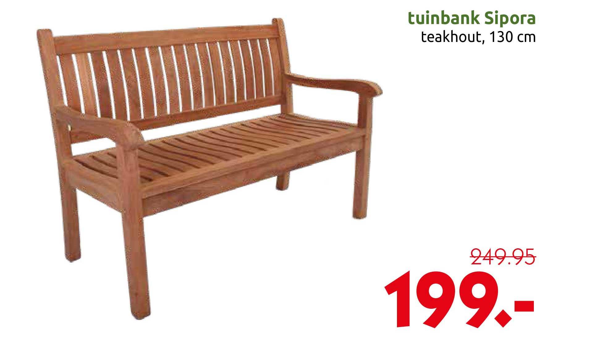 DekaTuin Tuinbank Sipora Teakhout 130 Cm