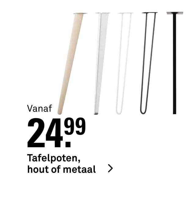 Karwei Tafelpoten, Hout Of Metaal