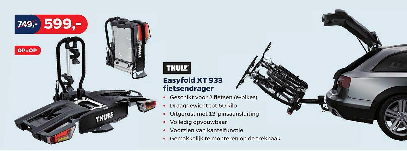 Bike Totaal Thule Easyfold XT 933 Fietsendrager