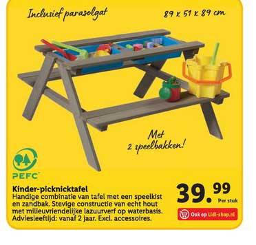 Lidl Kinder Picknicktafel