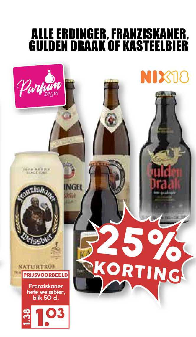 MCD Supermarkt Alle Erdinger, Franziskaner, Gulden Draak Of Kasteelbier 25% Korting