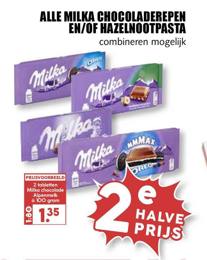 MCD Supermarkt Alle Milka Chocoladerepen En-of Hazelnootpasta