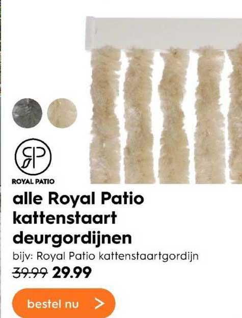 Blokker Alle Royal Patio Kattenstaart Deurgordijnen