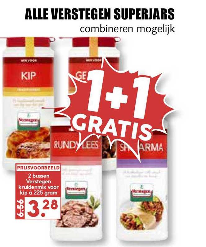 MCD Supermarkt Alle Verstegen Superjars 1+1 Gratis