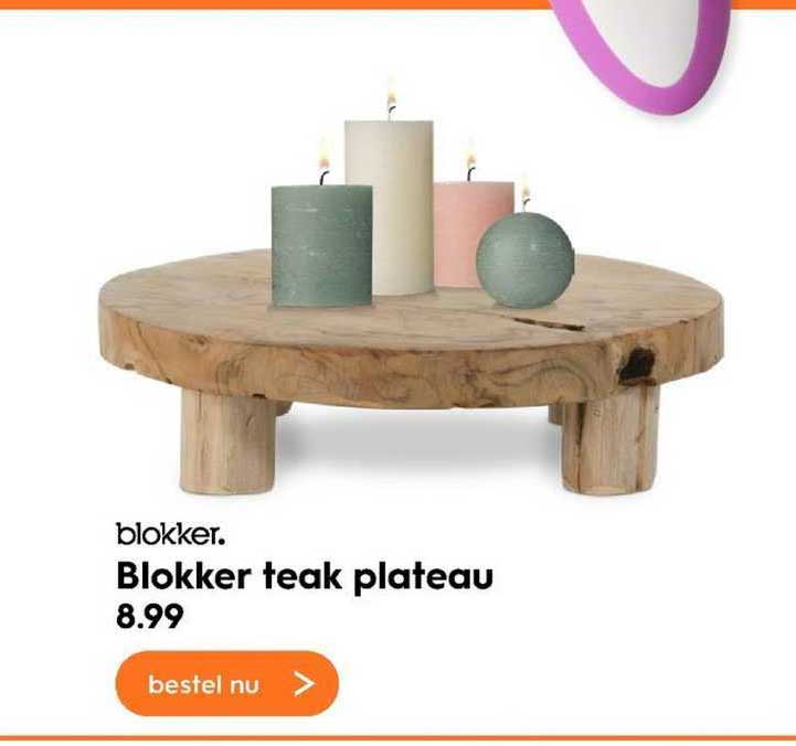 Blokker Blokker Teak Plateau