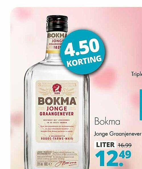 Mitra Bokma Jonge Graanjenever 4.50 Korting