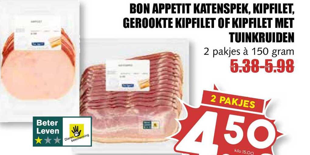 MCD Supermarkt Bon Appetit Katenspek, Kipfilet, Gerookte Kipfilet Of Kipfilet Met Tuinkruiden