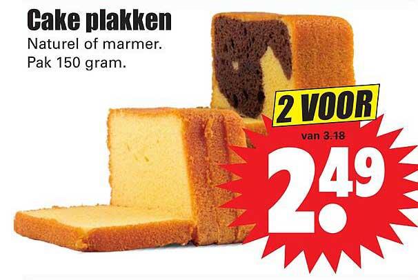 Dirk Cake Plakken Naturel Of Marmer