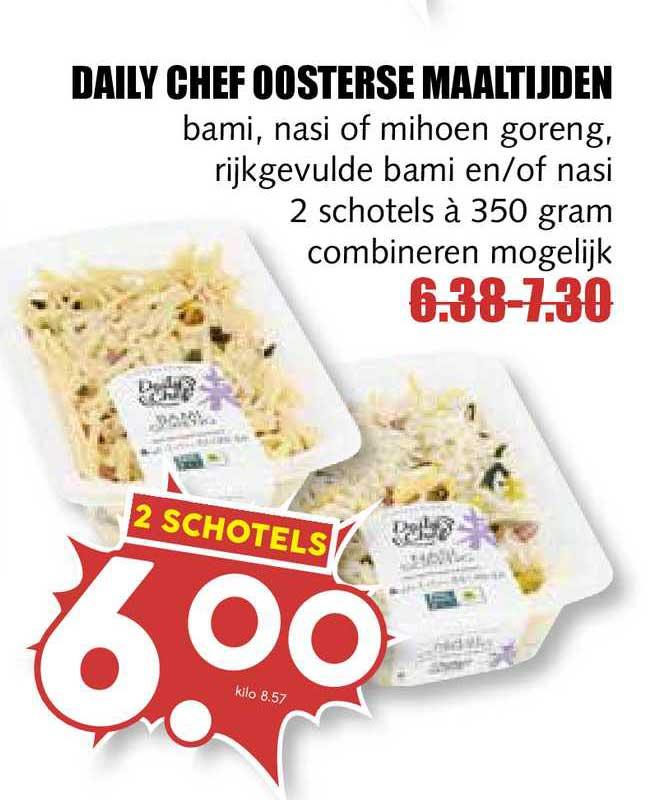 MCD Supermarkt Daily Chef Oosterse Maaltijden