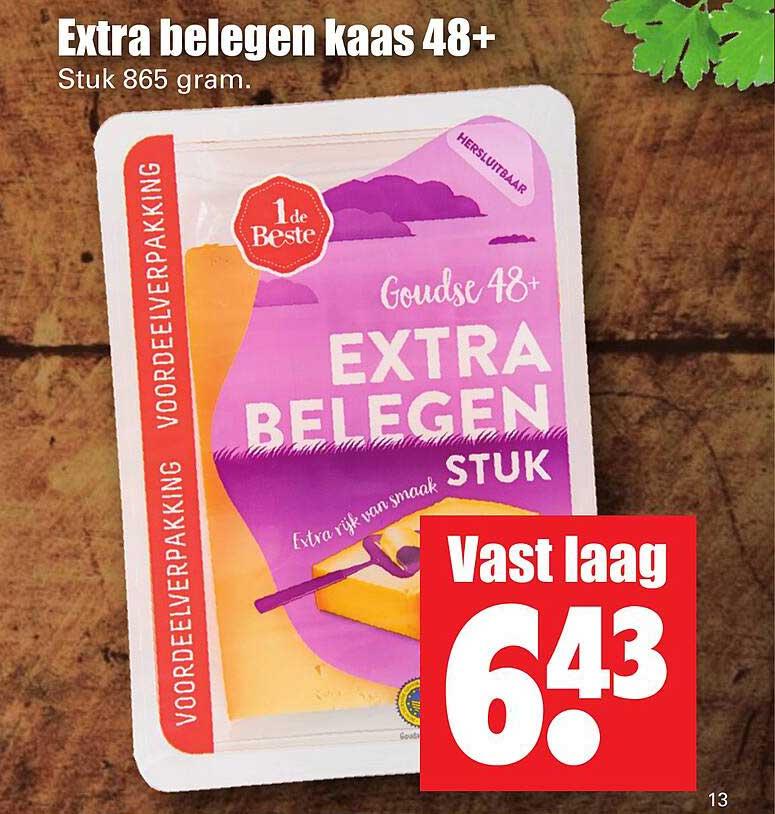 Dirk Extra Belegen Kaas 48+