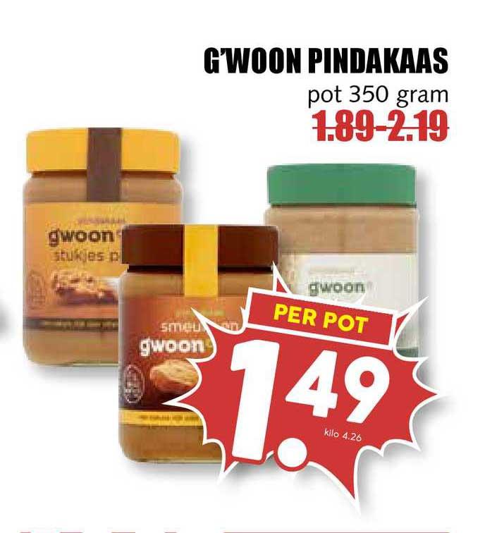 MCD Supermarkt G'woon Pindakaas