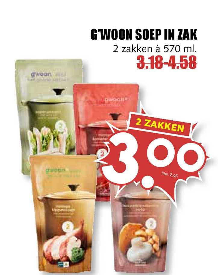 MCD Supermarkt G'woon Soep In Zak