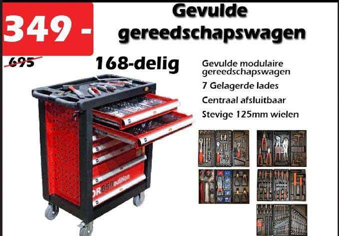 ITEK Gevulde Gereedschapswagen 168-Delig
