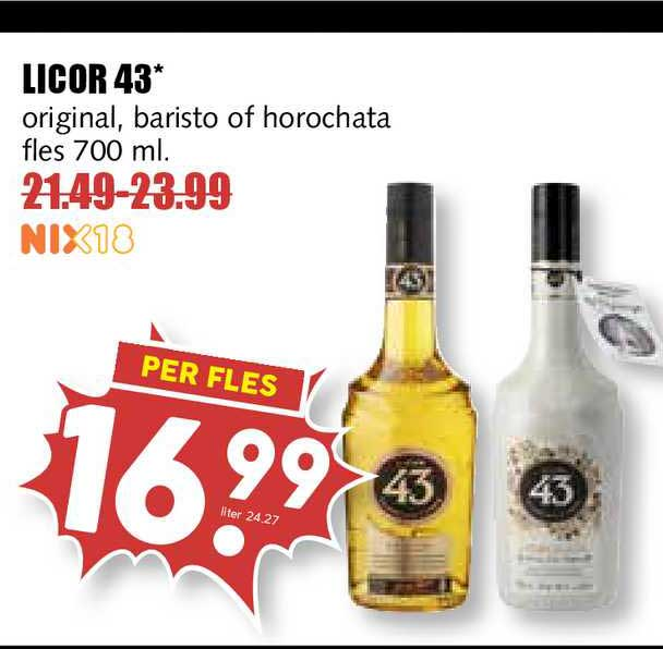 MCD Supermarkt Licor 43 Original, Baristo Of Horochata