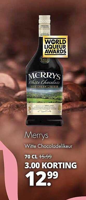 Mitra Merrys Witte Chocoladelikeur 3.00 Korting
