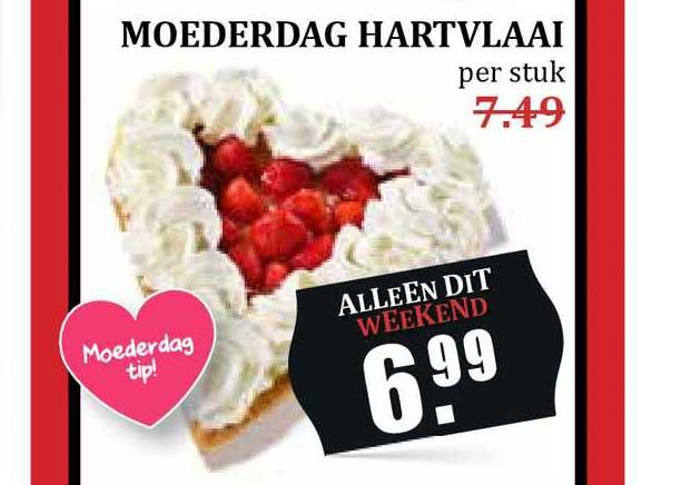 MCD Supermarkt Moederdag Hartvlaai