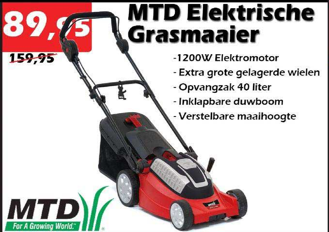 ITEK MTD Elektrische Grasmaaier