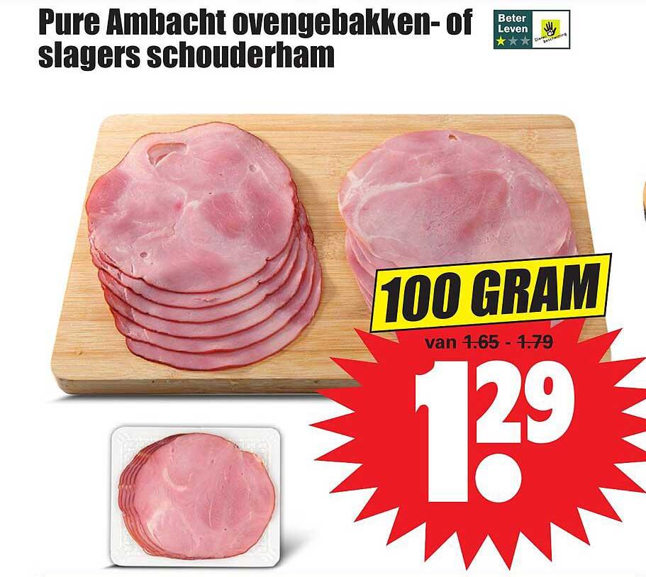 Dirk Pure Ambacht Ovengebakken- Of Slagers Schouderham