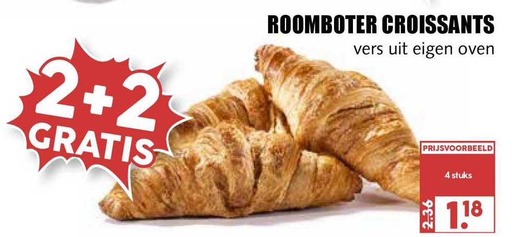 MCD Supermarkt Roomboter Croissants 2+2 Gratis