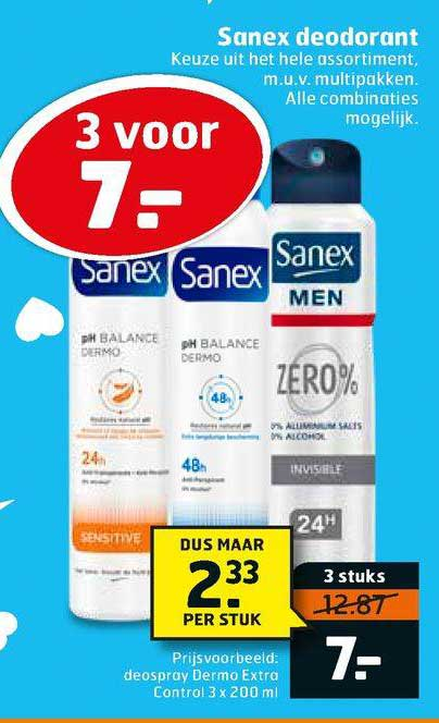 Trekpleister Sanex Deodorant