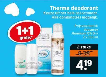 Trekpleister Therme Deodorant