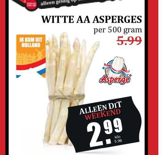 MCD Supermarkt Witte AA Asperges