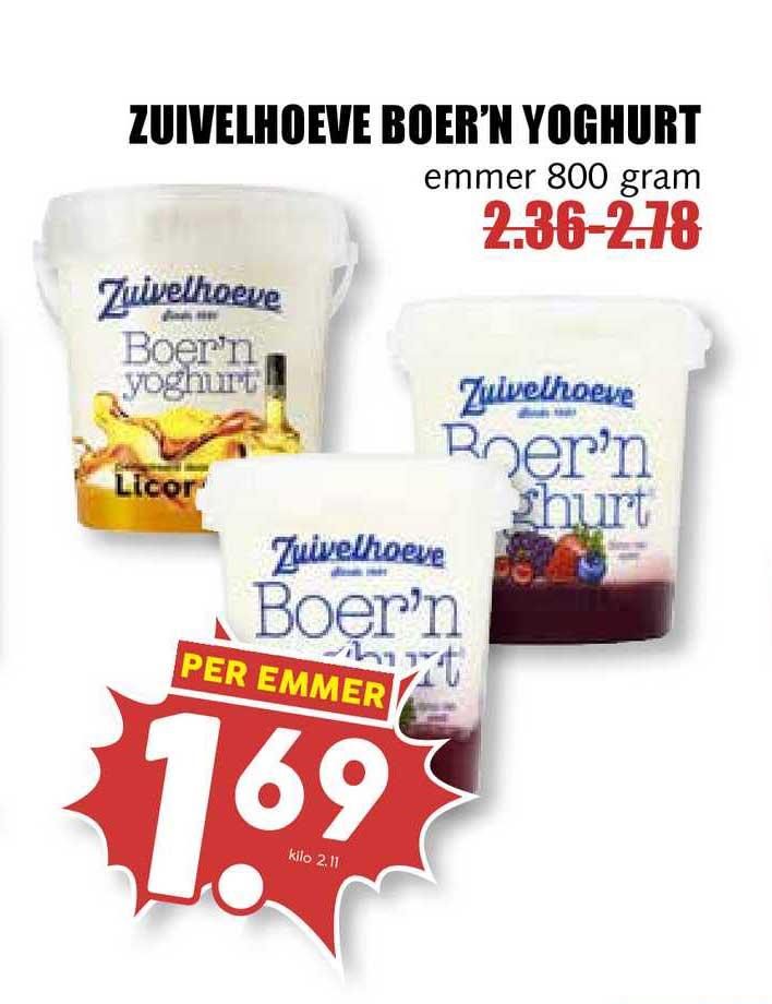 MCD Supermarkt Zuivelhoeve Boer'n Yoghurt