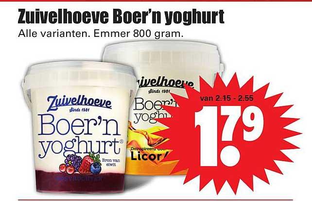 Dirk Zuivelhoeve Boer'n Yoghurt
