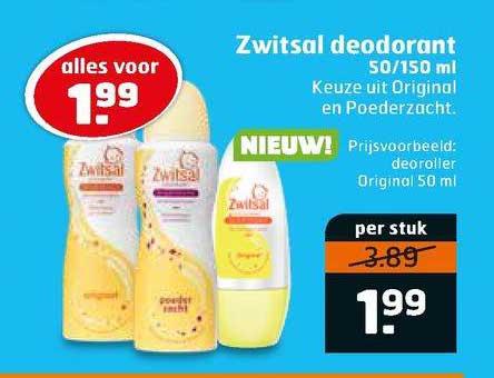 Trekpleister Zwitsal Deodorant 50-150 Ml