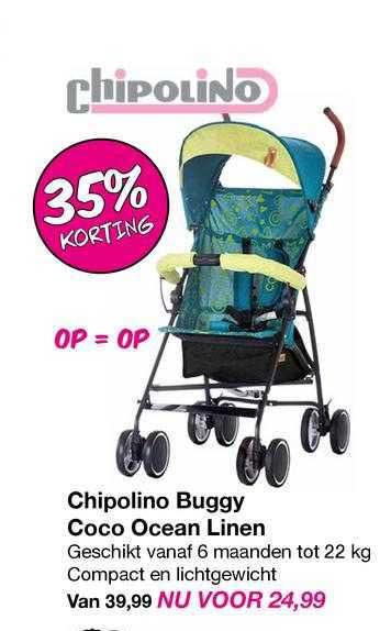 Van Asten Chipolino Buggy Coco Ocean Linen 35% Korting