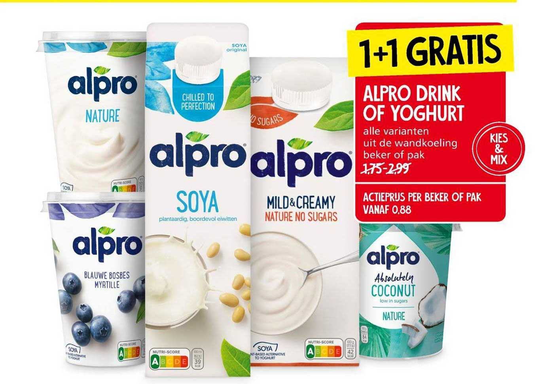Jan Linders Alpro Drink Of Yoghurt 1+1 Gratis