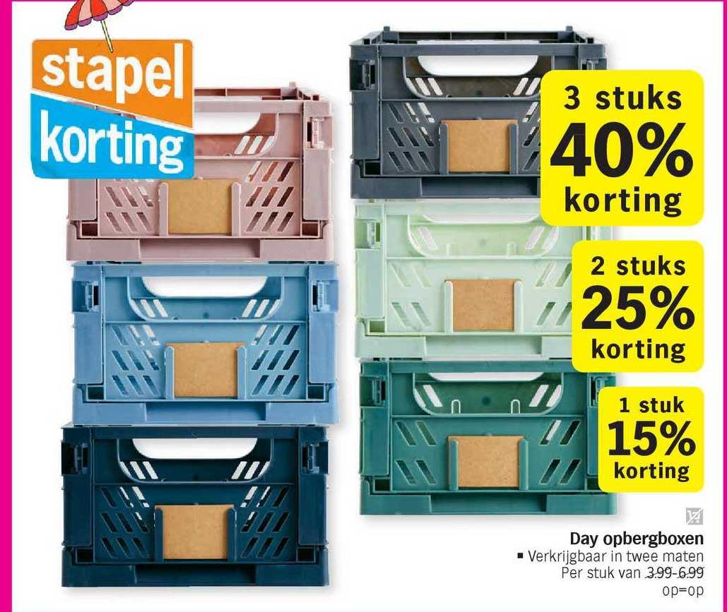 Albert Heijn Day Opbergboxen 15% - 40% Korting